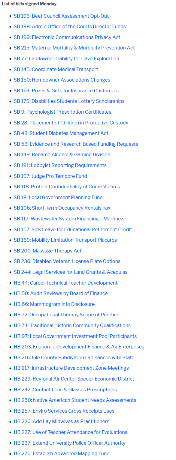 Screenshot_2019-02-04 Gov Lujan Grisham signs off on 42 'rocket docket' bills